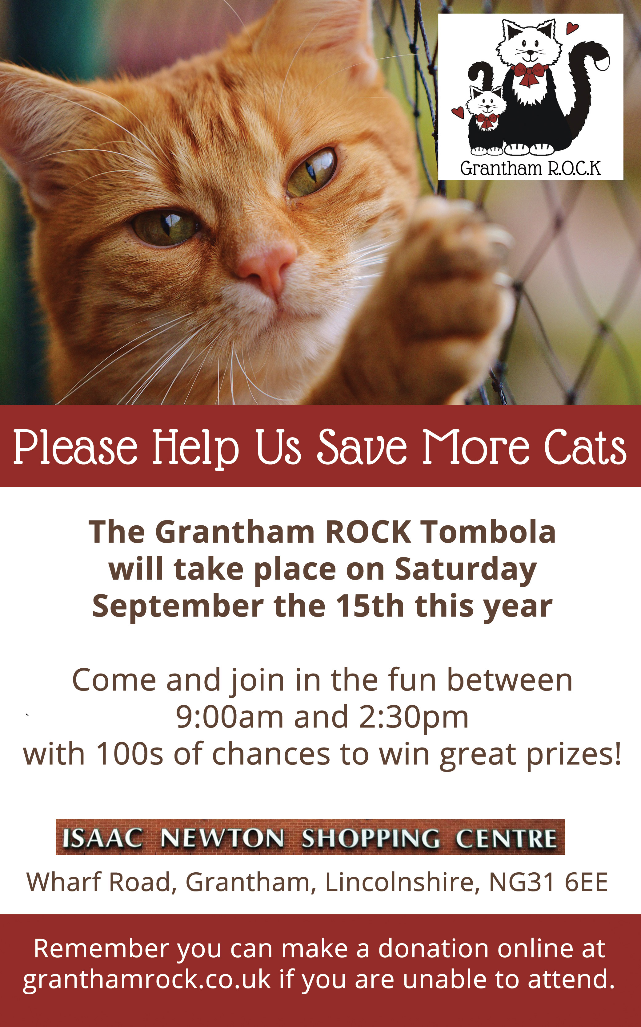Grantham ROCK Tombola 2018
