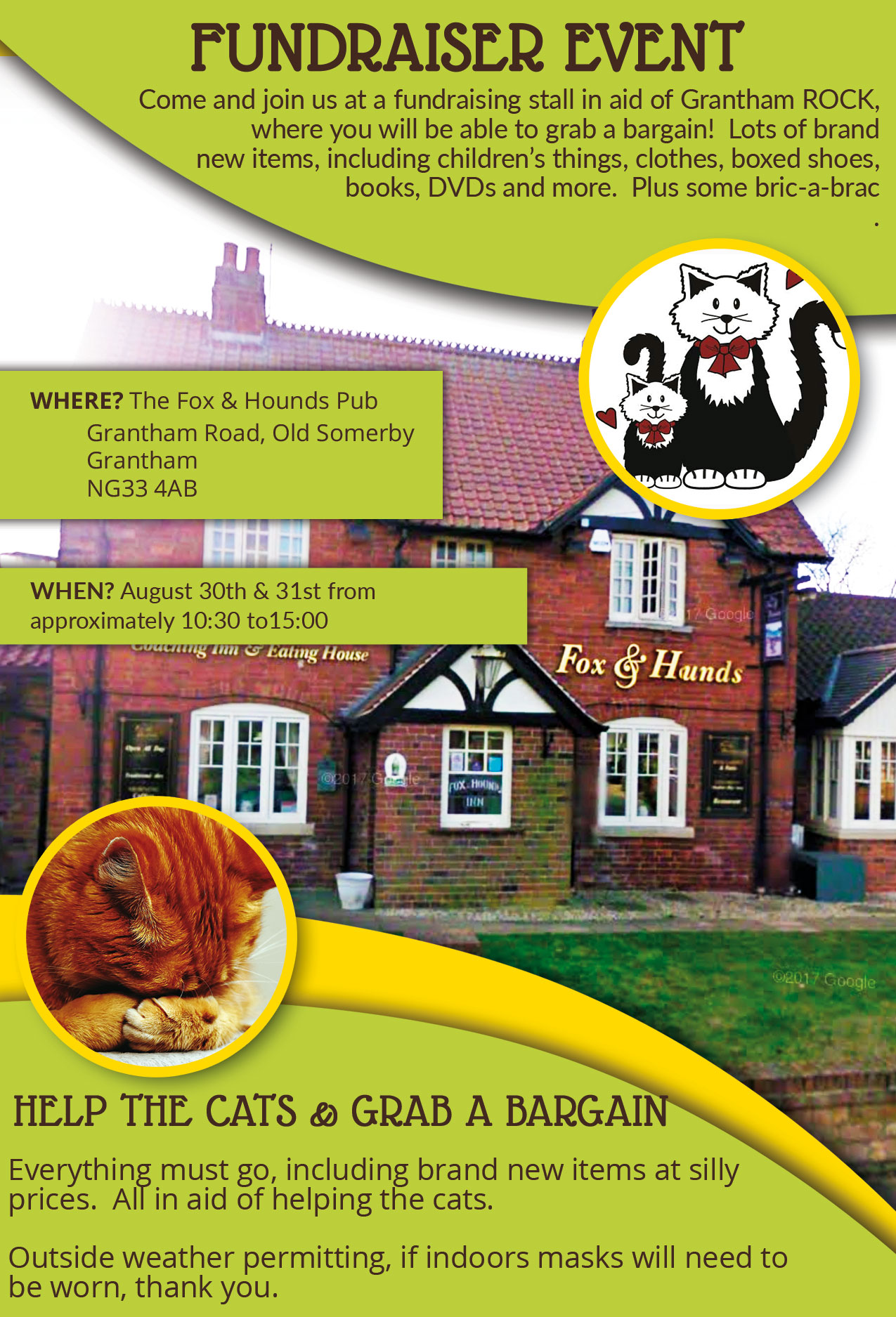 Grantham ROCK At Fox & Hounds – 30th & 31st August 2020